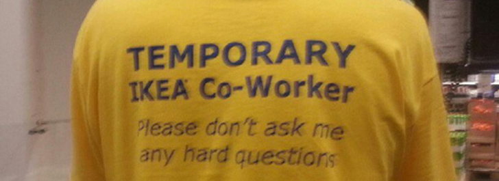 728x265 Ikea Employee t shirt